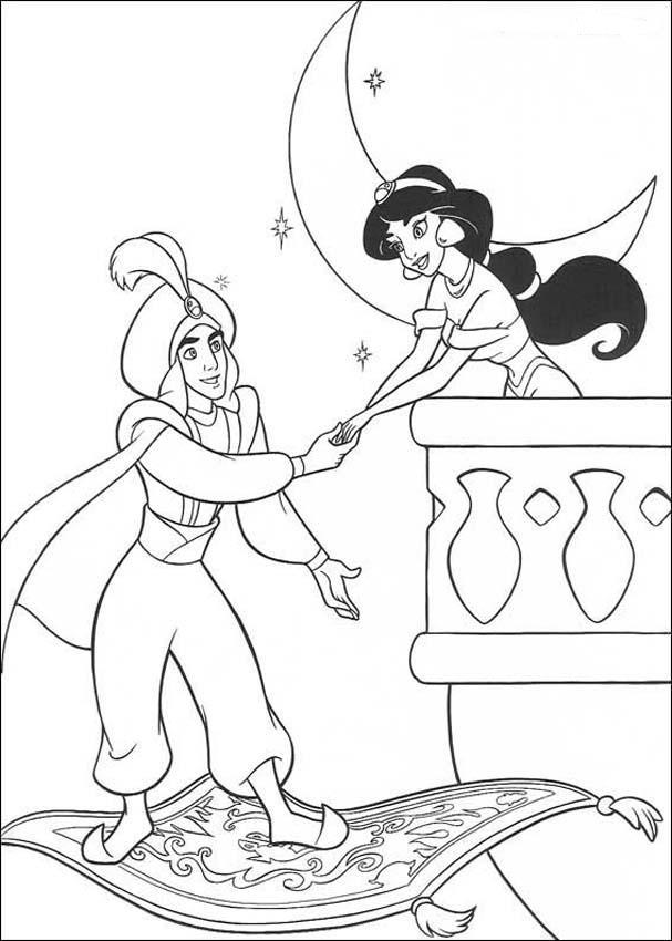 Malbuch Prinzessin Aladdin Kitty Bambi Tierbilder Ausmalen